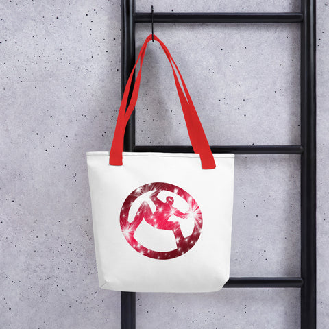 Solomon Appollo Red Tote bag