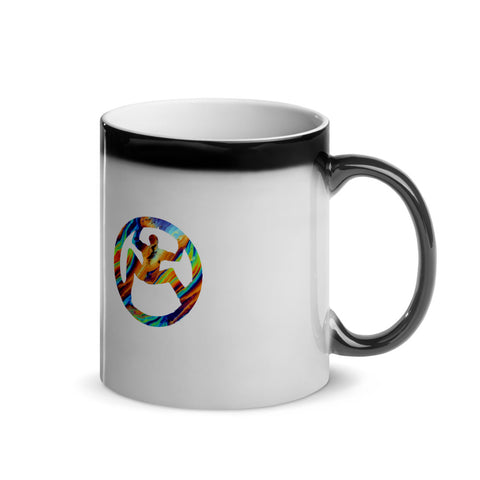 Solomon Appollo Multi coloured Glossy Magic Mug by UGPD