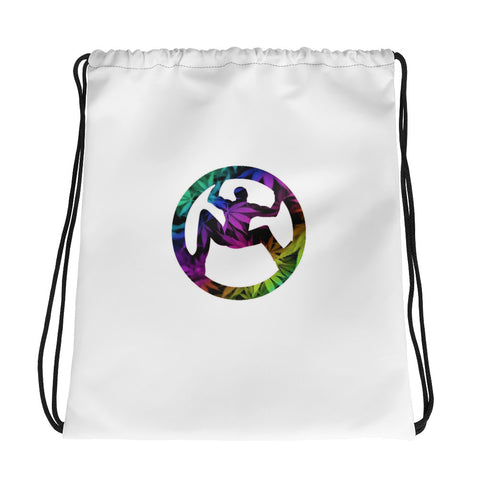 Rainbow Leaf Drawstring bag
