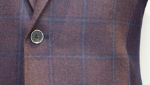 Load image into Gallery viewer, Burgundy/ Mauve Flannel Sports Jacket