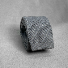 Load image into Gallery viewer, Grey Knit Tie