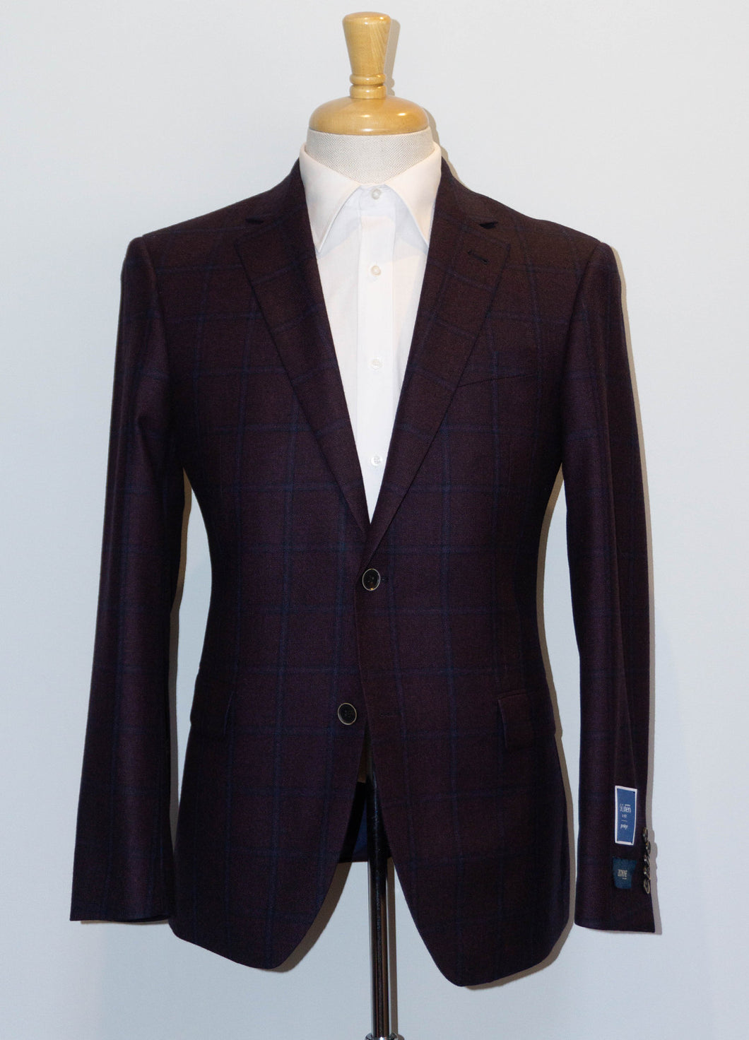 Burgundy/ Mauve Flannel Sports Jacket