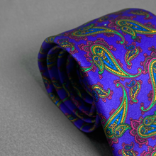 Load image into Gallery viewer, Purple Paisley Tie