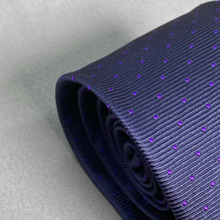 Load image into Gallery viewer, Purple Polka Dot Tie