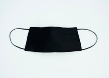 Load image into Gallery viewer, Solid Black 100% washable cotton mask