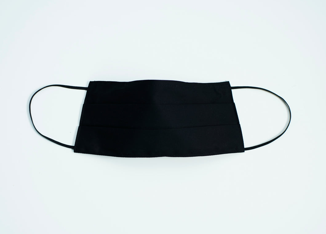 Solid Black 100% washable cotton mask
