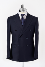 Load image into Gallery viewer, Slim Fit Navy Double Breasted Suit