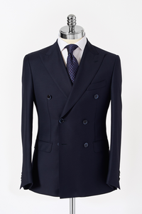 Slim Fit Navy Double Breasted Suit