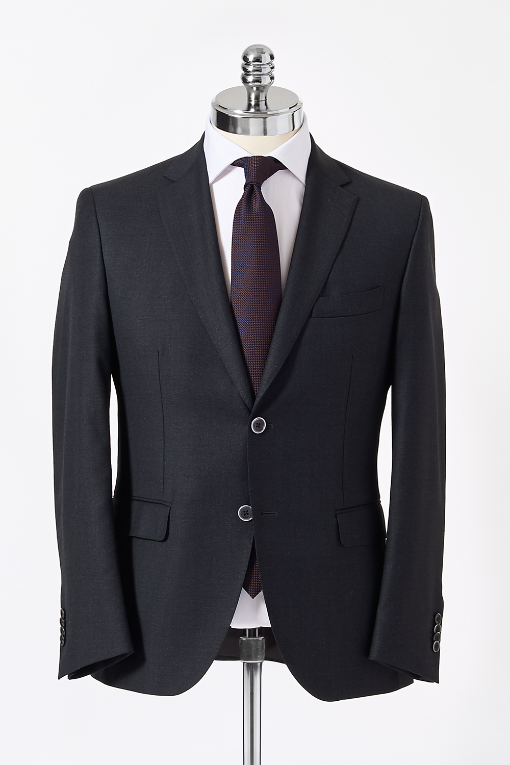 Slim Fit Charcoal Single Breasted Suit