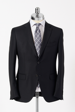 Load image into Gallery viewer, Slim Fit Black Single Breasted Suit
