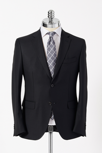 Slim Fit Black Single Breasted Suit