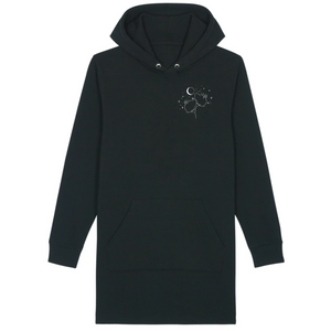 Two Stars Aligned - The Black Hoodie Dress