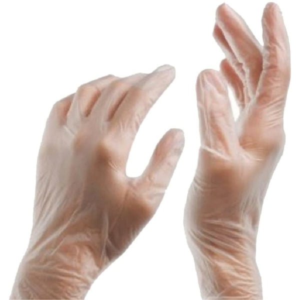 Clear Disposable Vinyl Gloves - Powdered (Pack of 100pcs)