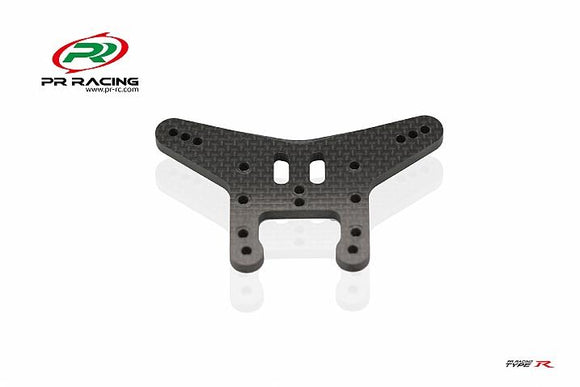 PR Racing 75530026 4mm Carbon Fiber Rear Shock Tower for Type R