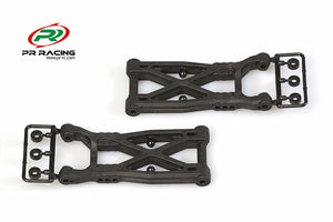 PR Racing 77500336 Rear Gull Wishbone Arms (Graphite)