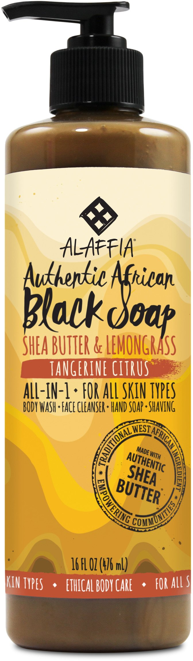 Alaffia Black Soap Tangerine 8oz