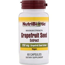 Load image into Gallery viewer, Nutribiotic Grapefruit Seed Extract Capsules 60ct