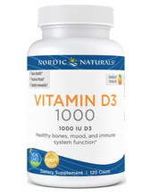 Load image into Gallery viewer, Nordic Vitamin D3 1000 IU 120ct