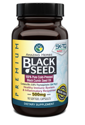 Amazing Herbs Black Seed Oil 500mg 90ct