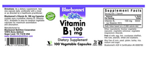 Load image into Gallery viewer, Bluebonnet Vitamin B-1 100mg 100ct