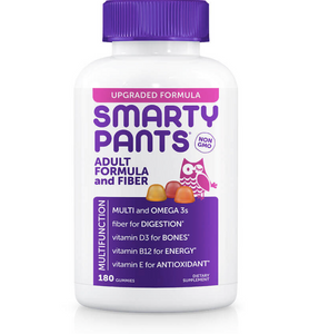 Smarty Pants Adult Complete Multivitamin and Fiber 180ct