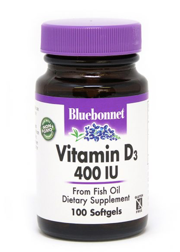 Bluebonnet Vitamin D3 400IU 100ct