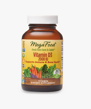 Load image into Gallery viewer, Mega Food Vitamin D3 2000 IU 60ct