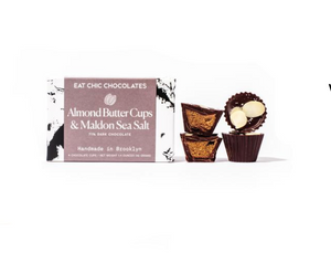 Eat Chic Almond Butter Cups & Maldon Sea Salt 4ct