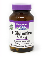 Load image into Gallery viewer, Bluebonnet L-Glutamine 500mg