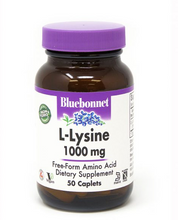 Load image into Gallery viewer, Bluebonnet L-Lysine 1000mg 50ct