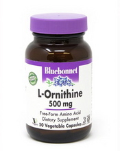 Load image into Gallery viewer, Bluebonnet L-Ornithine 500mg 50ct