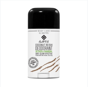 Alaffia Deodorant Vetiver and Charcoal