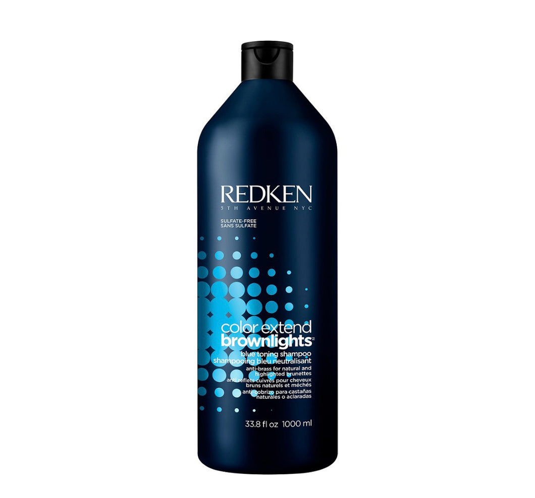 Redken Color Extend Brownlights Blue Toning Sulfate-Free Shampoo Liter