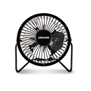 Heller HVF10UBK 10CM High Velocity Mini Metal Fan With USB