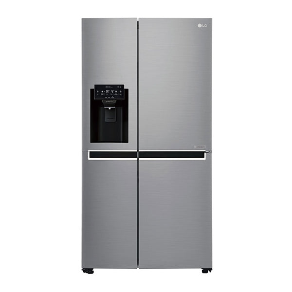 LG GSL668PNL 668L Side by Side Fridge with Non Plumbed Ice & Water Dispenser