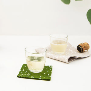 Drink coasters from Cotton & Flax