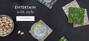 Entertain with style - shop our collection of wool felt coasters