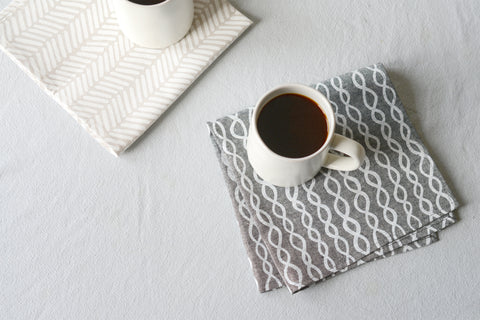 Patterned Linen Napkins from Cotton & Flax