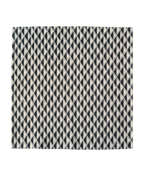 Black Diamond Linen Napkin from Cotton & Flax