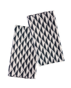 Black Diamond dinner napkins - Cotton & Flax