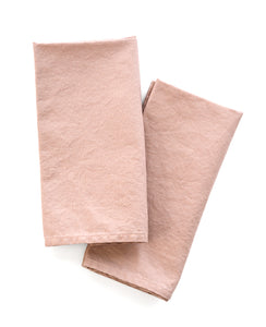 Blush Pink Linen napkins - designed by Cotton & Flax