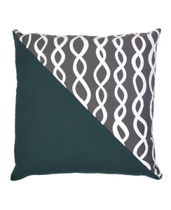 Charcoal Grey DNA Patchwork Throw Pillow