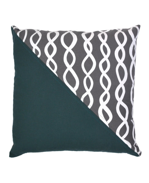Charcoal Grey DNA Patchwork Pillow