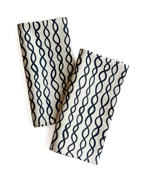 Flax linen napkins - DNA pattern - Cotton & Flax