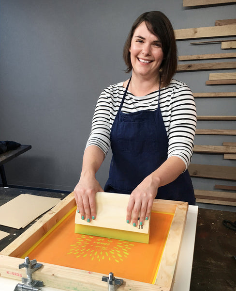 Learn to screenprint with Erin Dollar