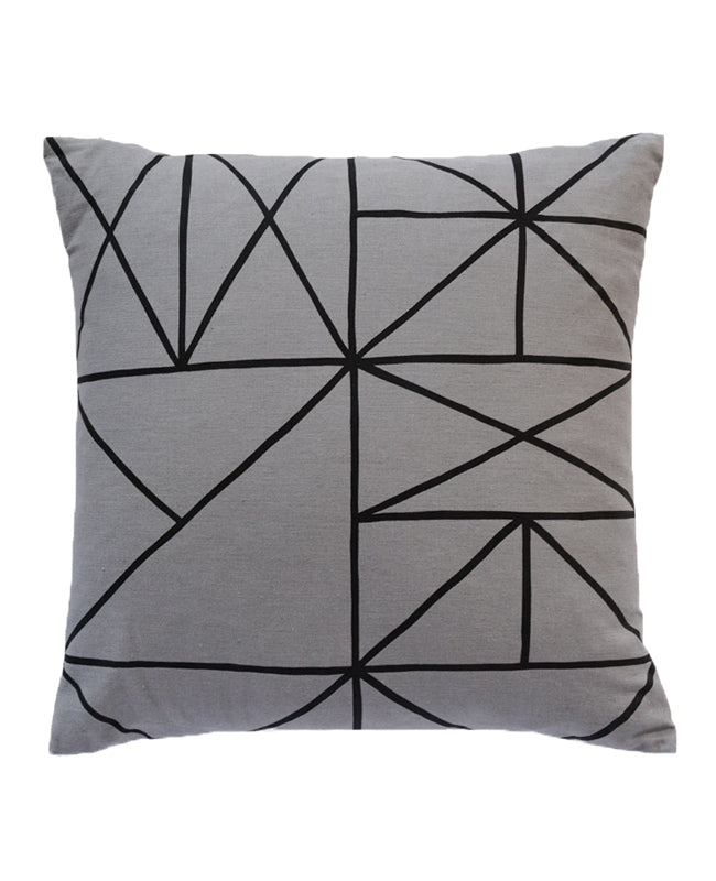 Grey Grid Pillow from Cotton & Flax