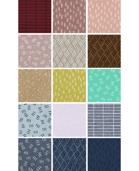 Balboa fabric fat quarters - designed by Erin Dollar for Robert Kaufman