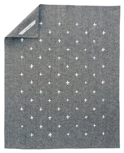 Black chambray tea towel - Cotton & Flax