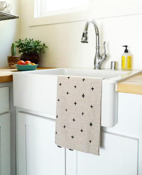 Black plus tea towel - Cotton & Flax