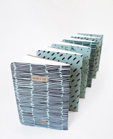 Modern Patterned Notebooks — Cotton & Flax